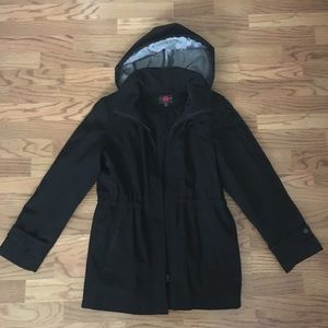 Black raincoat perfect for the office